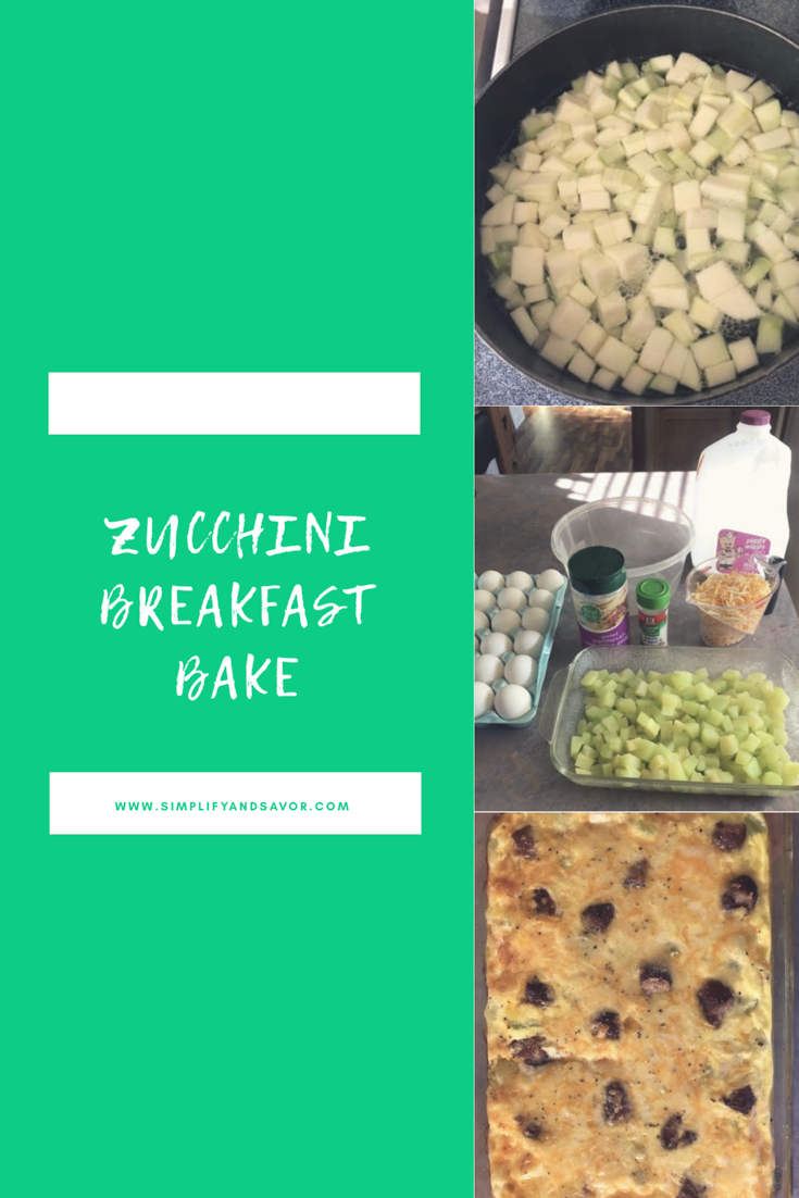 Check out this recipe for Zucchini Breakfast Bake, an easy and tasty recipe to feed the whole family! For more inspiration visit www.simplifyandsavor.com