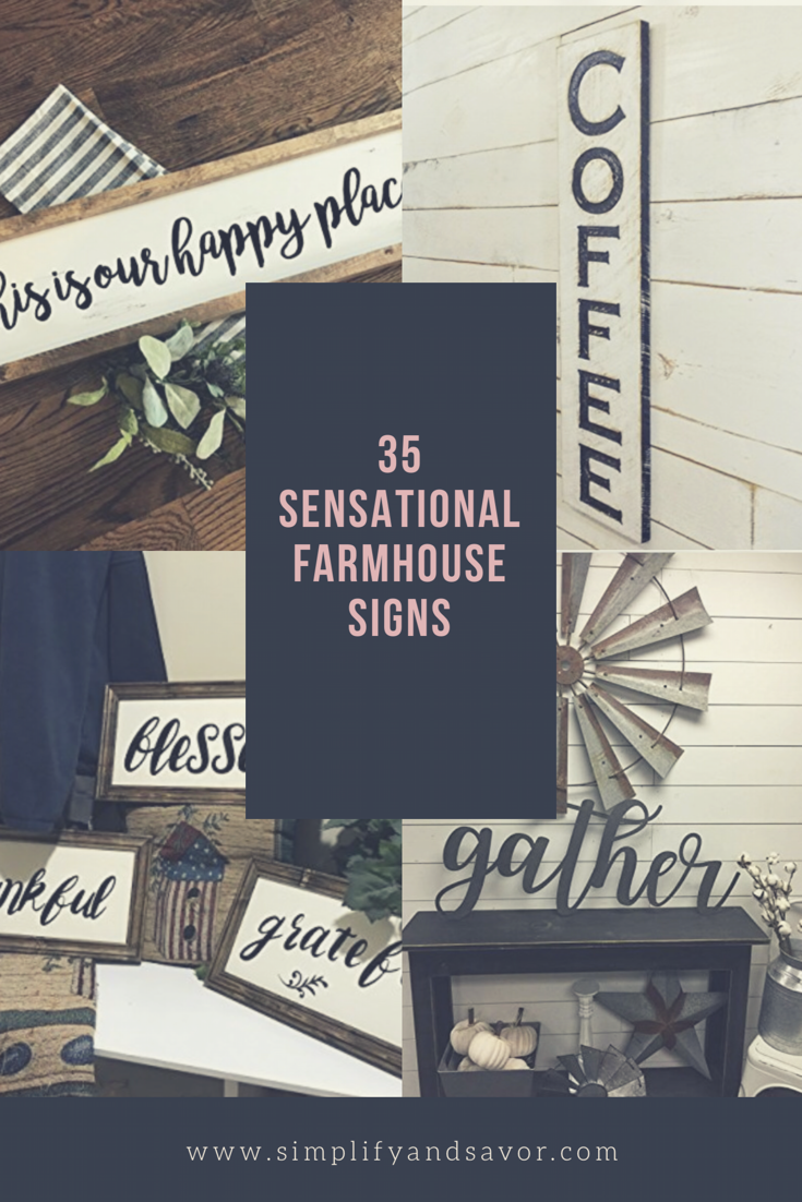 Coffee sign, This is my happy place sign, gather sign, grateful, blessed, thankful signs with 35 sensational farmhouse signs text
