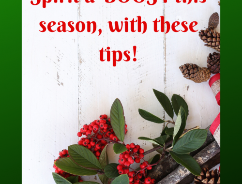 Tips to give your Christmas Spirit a boost this season! Simplifyandsavor.com #Christmas #Tips #LifeHacks #Holidays