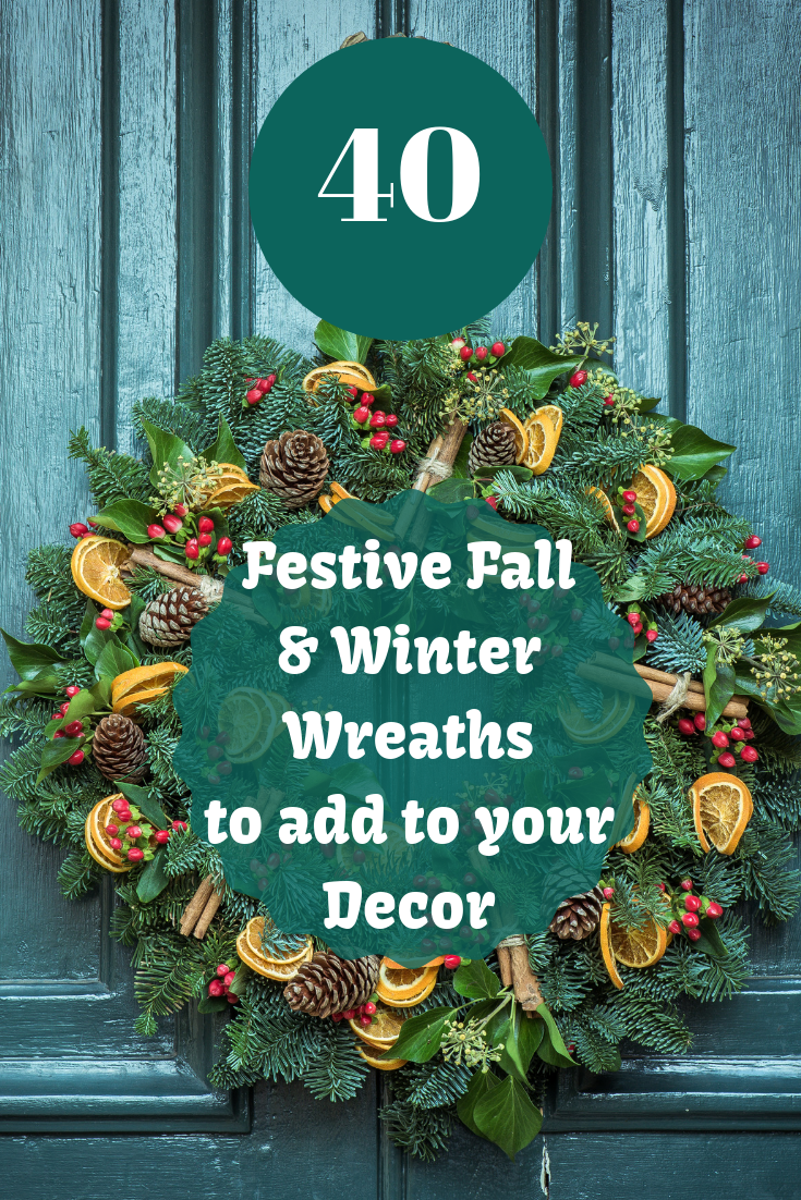 Fall is rounding the corner here, and winter isn't far behind. The bright colors and beautiful decor has inspired me to round up some of my favorite fall and winter wreaths to adorn your home with. www.simplifyandsavor.com