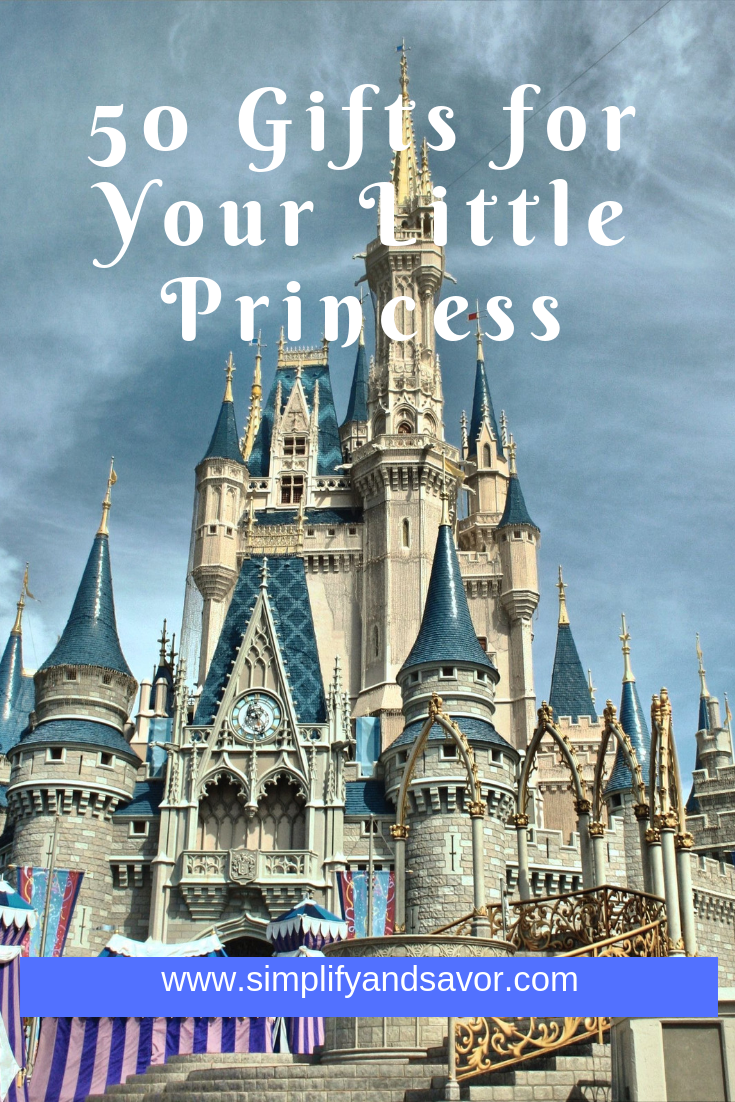 A castle with the text 50 gifts for your little princess