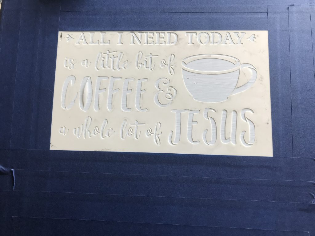 This stencil will help create an awesome coffee bar sign.  To see the finished product, visit www.simplifyandsavor.com