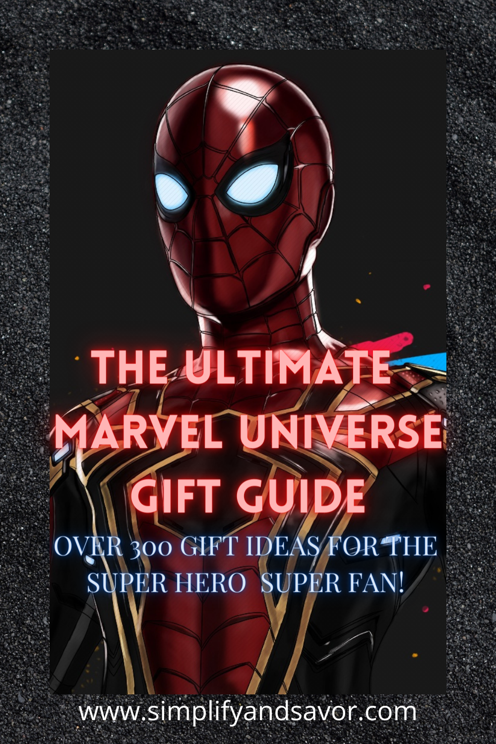 Cover photo for The Ultimate Marvel Universe Gift Guide with over 300 gift ideas for your Super Hero Super Fan.