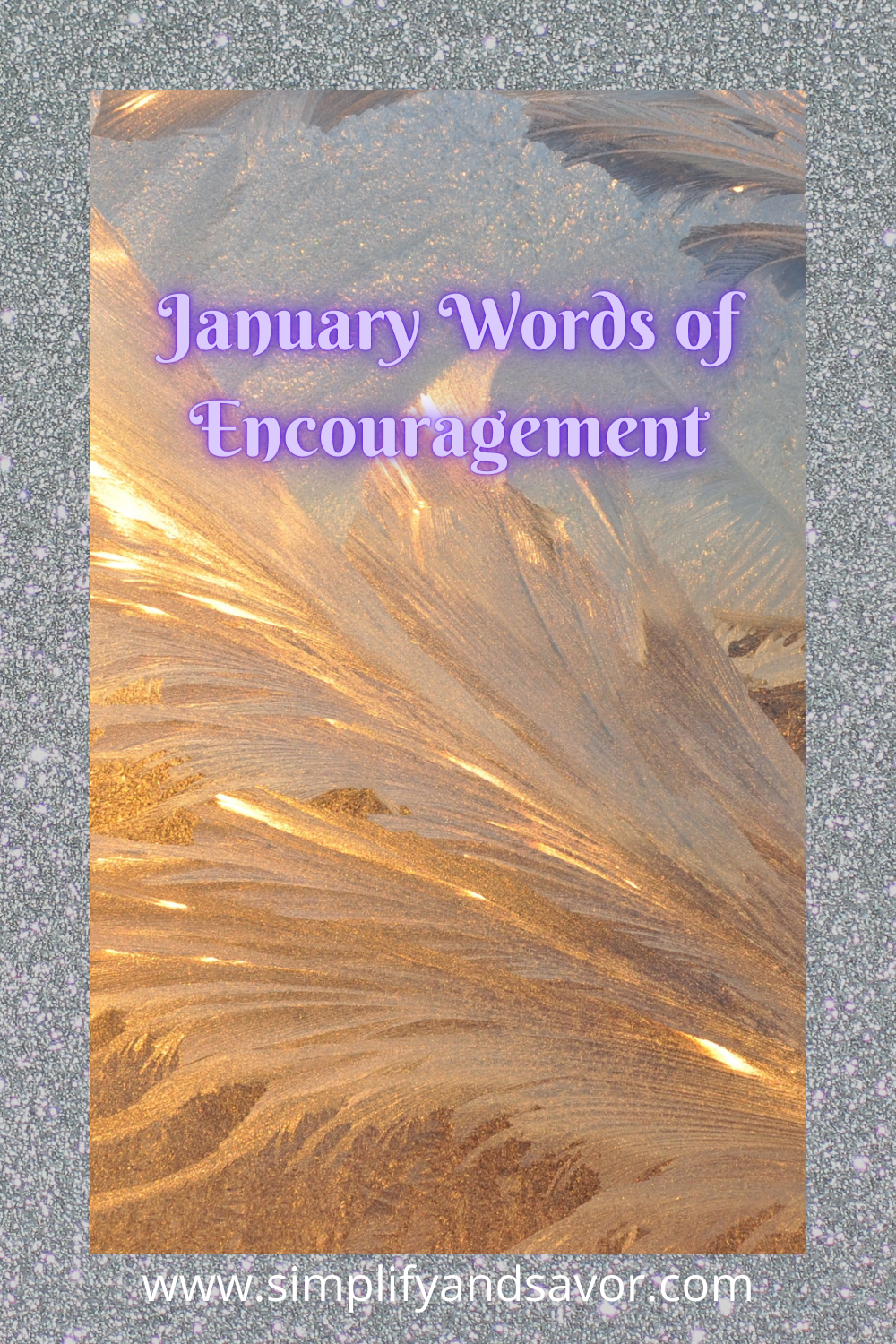 January Words of Encouragement