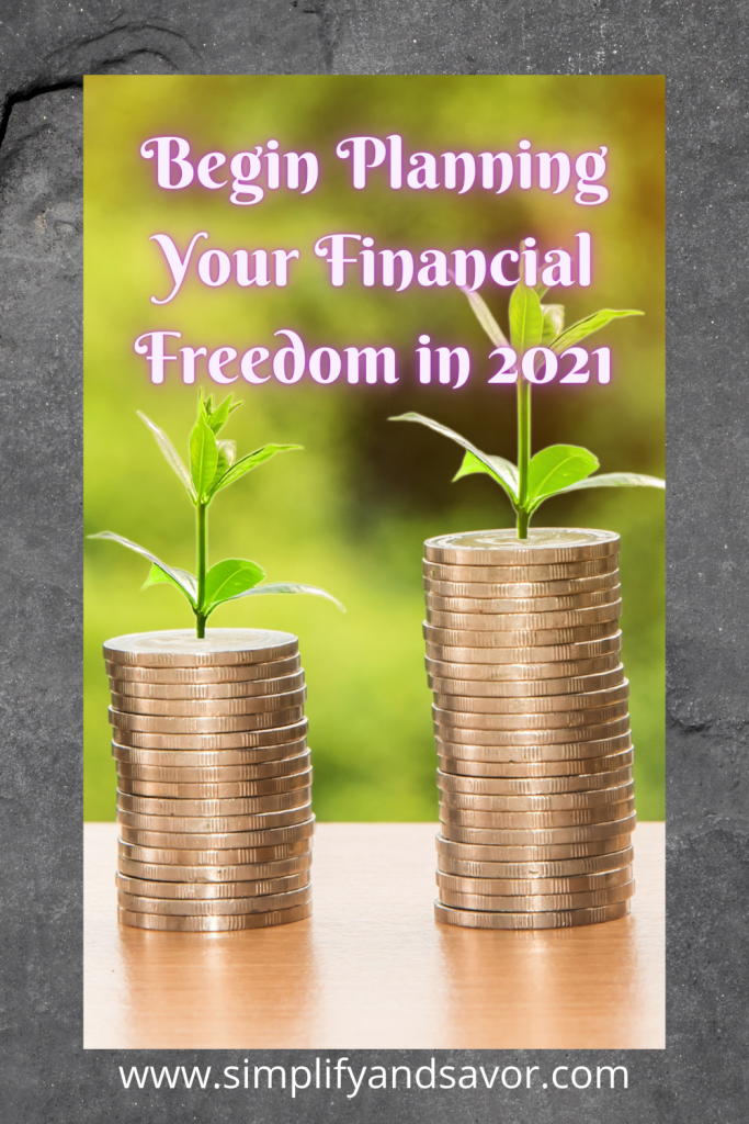 Begin planning for your financial independence in 2021. Learn how to grow money for the future. Join me in my journey to financial freedom. #FinancialGoals #Money #Investing #PassiveIncome #blogging